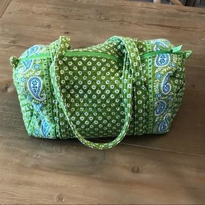 Vera Bradley Small Apple Green Duffle Bag Like New